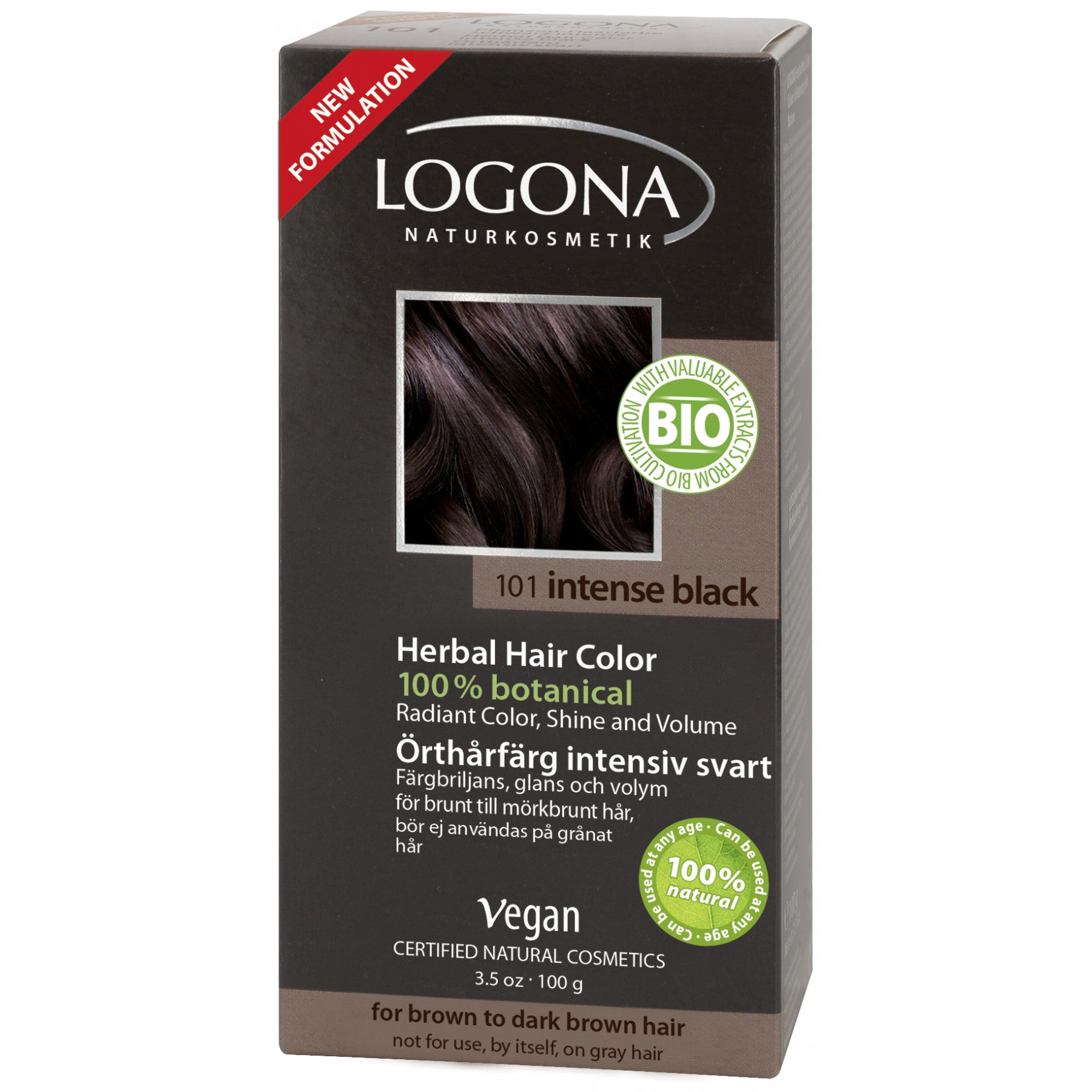 svart hårfarge