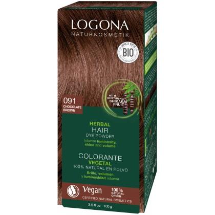 Plantehårfarge 091 Sjokoladebrun