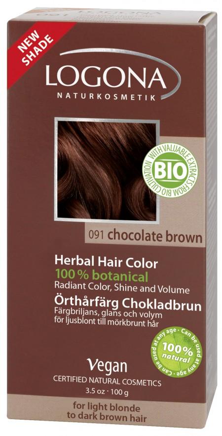 Plantehårfarge Sjokoladebrun